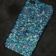 Peacock Glitter iPhone 4 4s Hard Cover Case